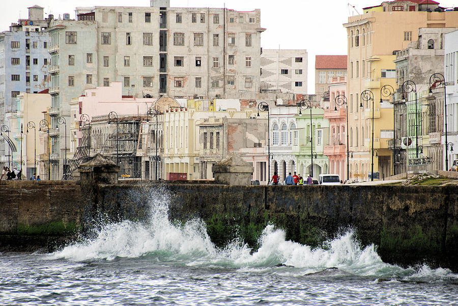 The Spume At Malecon Photograph by Marie Schleich