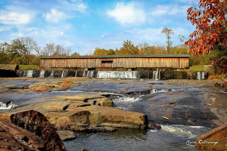 Watson Mill Bridge State Park Photograph - The Square Dance Venue Watson Mill Covered Bridge by Reid Callaway