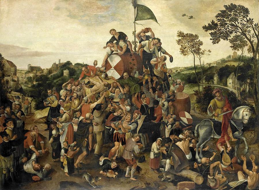 The St Martins Day Kermis Painting by Pieter Balten