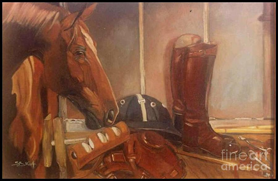 Polo Paintings Painting - the Stable by Sabrina Siga