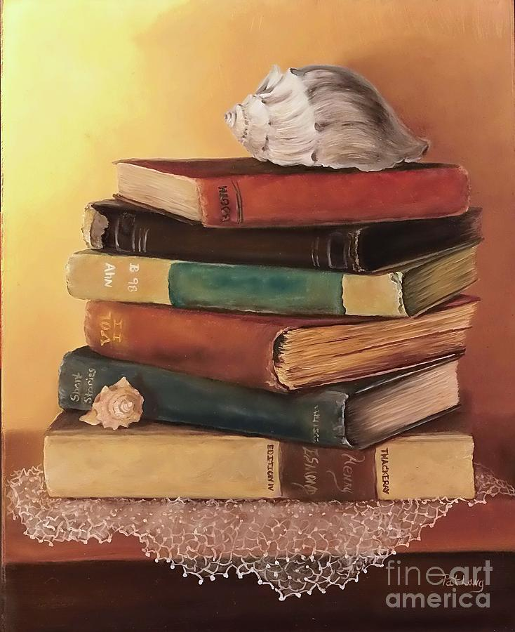 Books Painting - The Stack by Patricia Lang