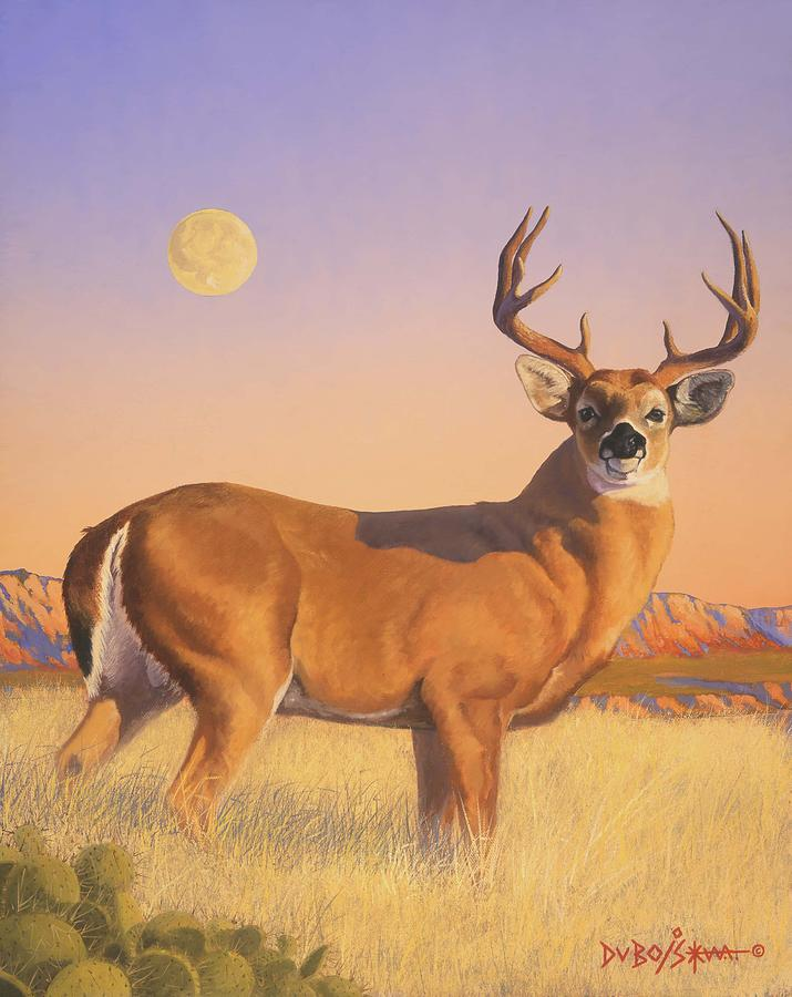 Deer Painting - The Stag by Howard Dubois
