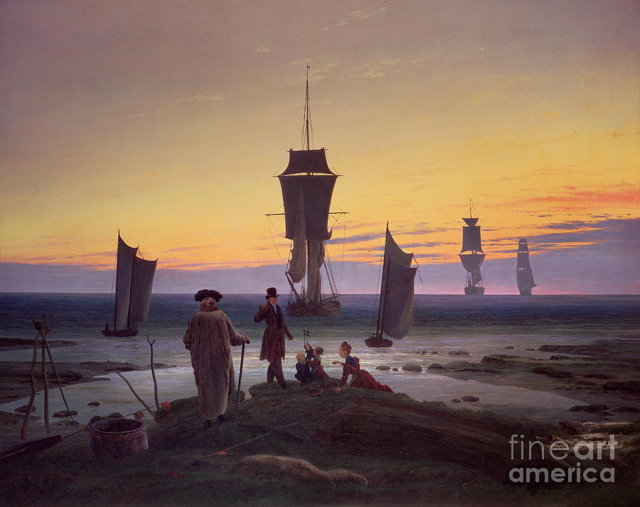 The Painting - The Stages Of Life by Caspar David Friedrich