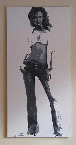 Women Painting - The Stance by Michael james Toomy