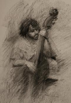 Figurative Drawing - The Stand-up  by Joshua Been