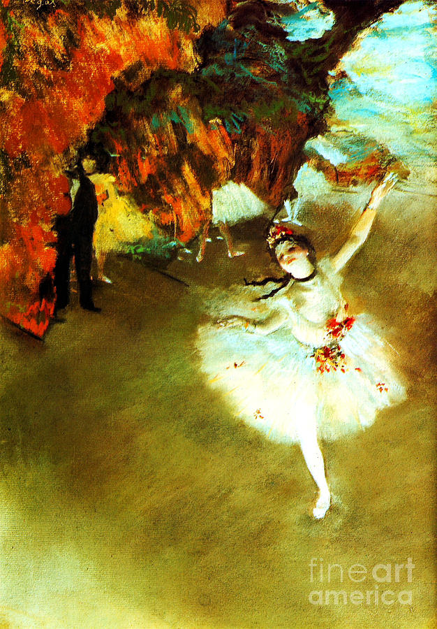 19th Century Painting - The Star By Edgar Degas by Pg Reproductions