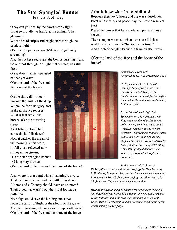 American Photograph - The Star-spangled Banner by Jacob Cane