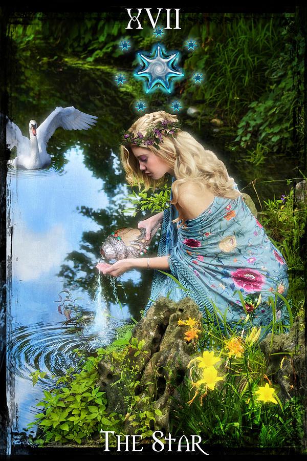 Divine Digital Art - The Star by Tammy Wetzel