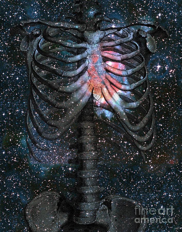 Starbound Digital Art - The Starbound Heart I by Kenneth Rougeau