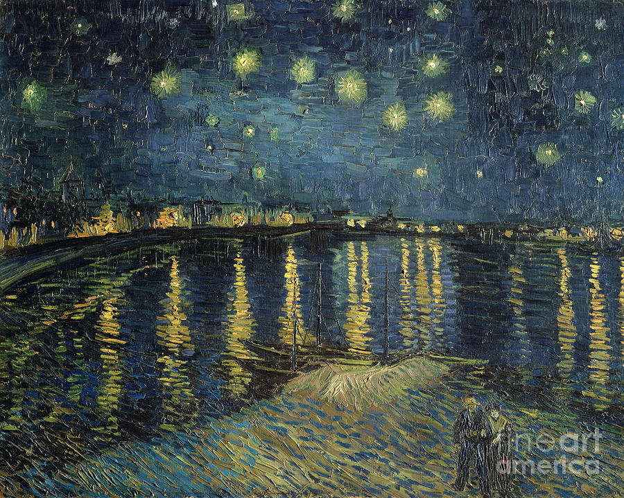 The Painting - The Starry Night by Vincent Van Gogh