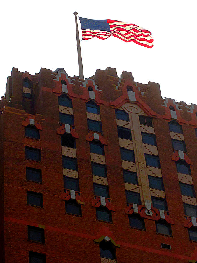 Old Building Photograph - The Stars And Stripes Has Waved Above by Guy Ricketts