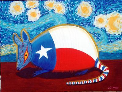 Armadillo Painting - The Stars At Night Original Sold by Larry G Lemons