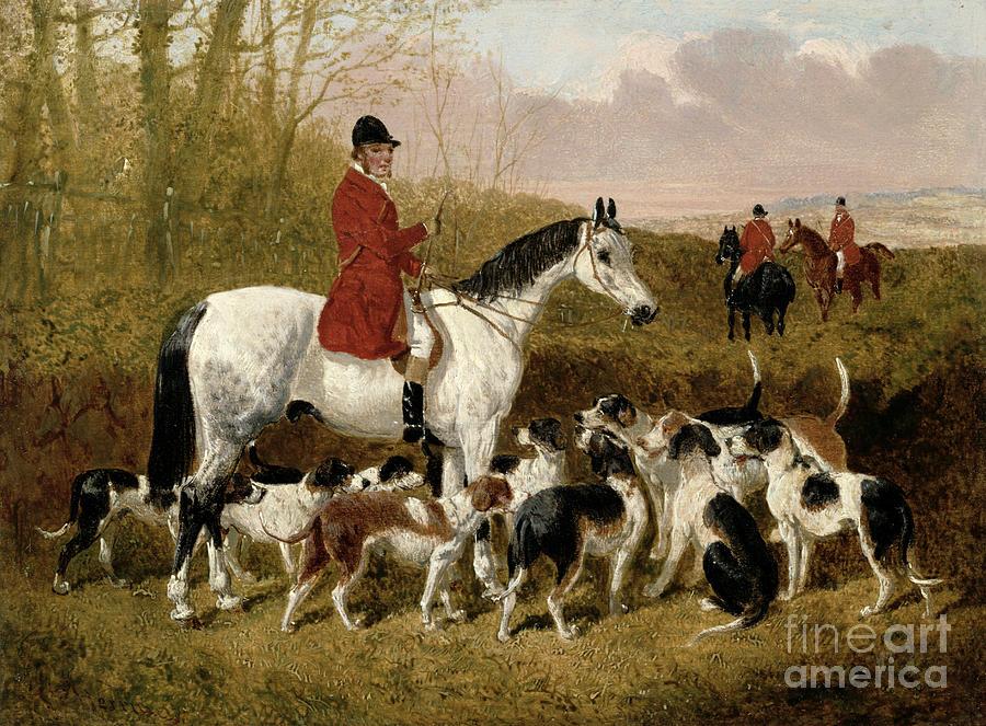 The Painting - The Start  by John Frederick Herring Snr