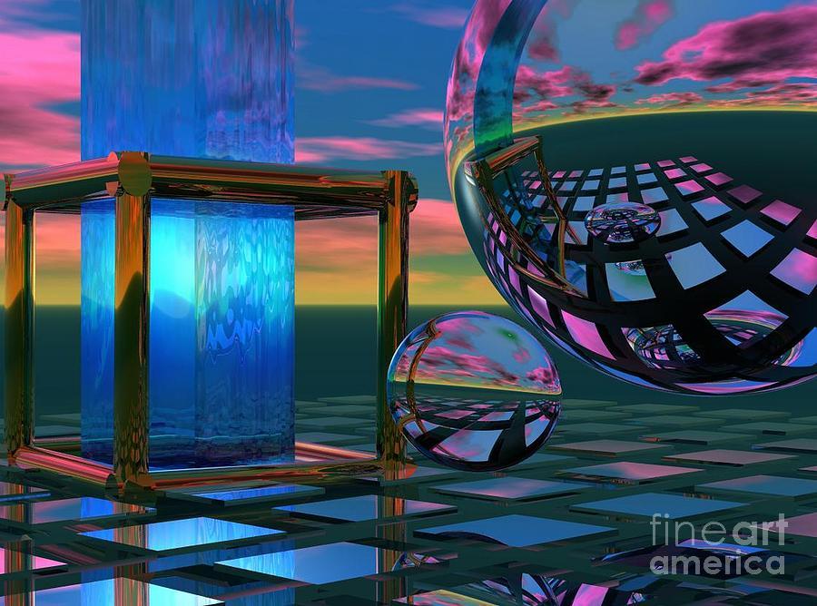 Bryce Digital Art - The Station by Sandra Bauser Digital Art