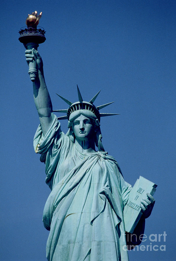 The Painting - The Statue Of Liberty by American School