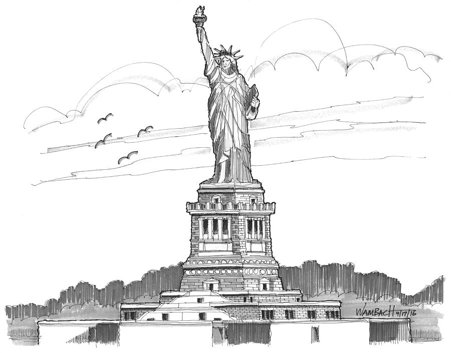 The Statue of Liberty Lighthouse by Richard Wambach