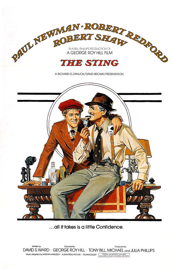 1930s Photograph - The Sting, The, Robert Redford, Paul by Everett