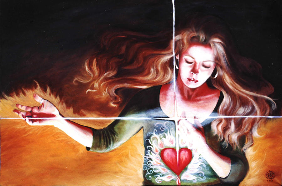Christian Painting - The Stirring by Teresa Carter
