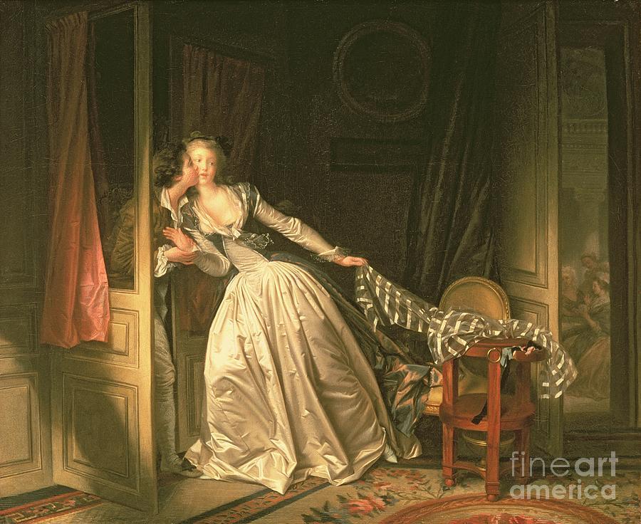 Fragonard Painting - The Stolen Kiss by Jean-Honore Fragonard