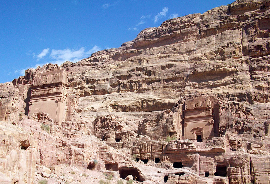 Petra Photograph - The Stone City by Munir Alawi
