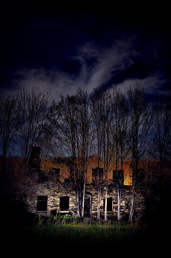 Abandoned Photograph - The Stone House by Emily Stauring
