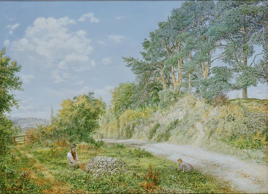 The Painting - The Stonebreaker by George William Mote