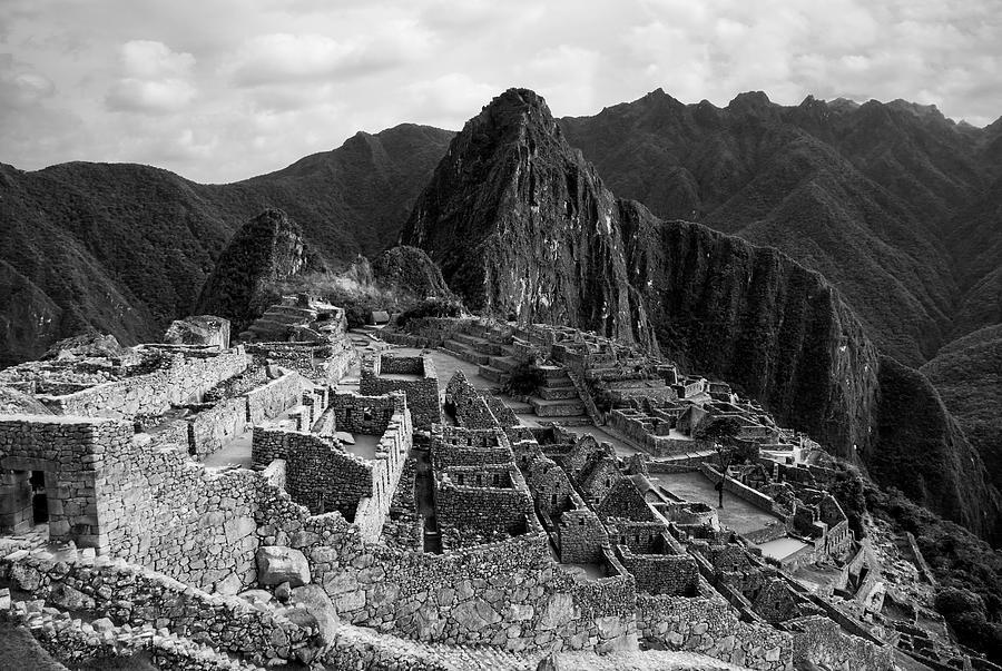Machu Picchu Photograph - The Stonework Of Machu Picchu by Jane Selverstone