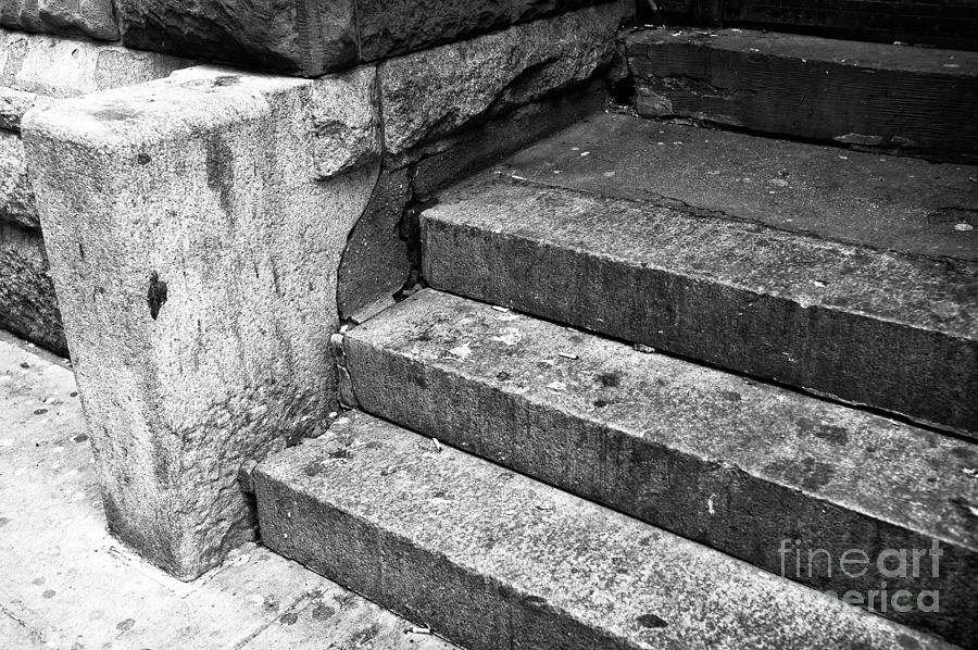 The Stoop Photograph - The Stoop Mono by John Rizzuto