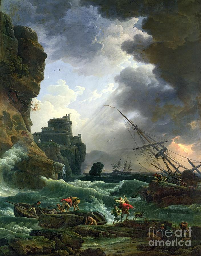 Storm Painting - The Storm by Claude Joseph Vernet