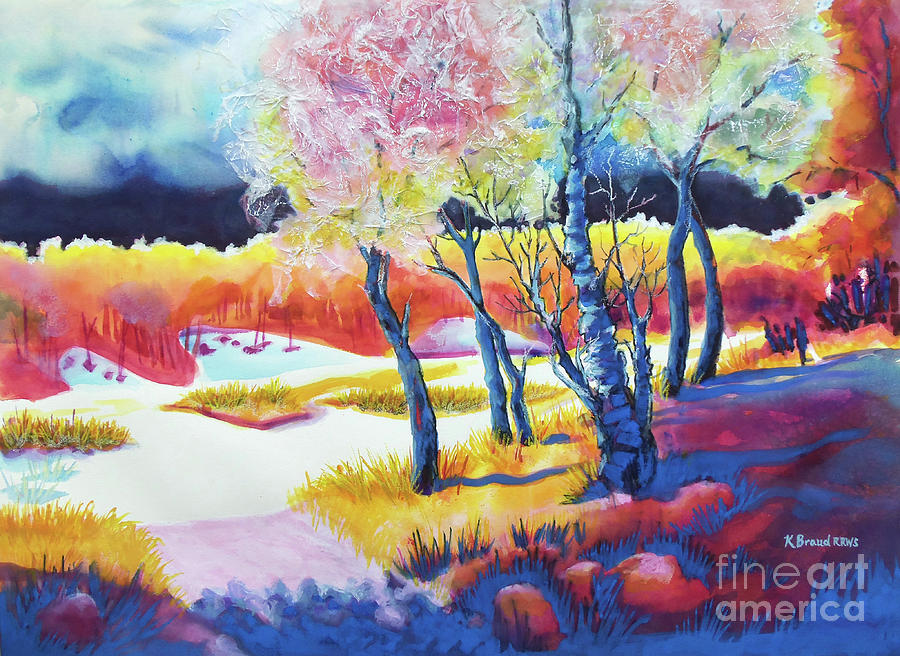 Kathy Braud Painting - The Storm Comes 2 by Kathy Braud
