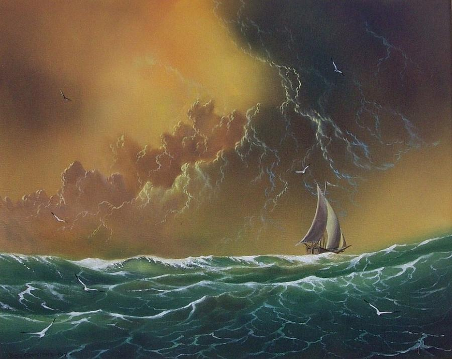 Seascape Painting - The Storm by Don Griffiths
