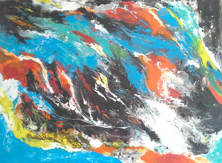 Bright Painting - The Storm by Joy Fahey