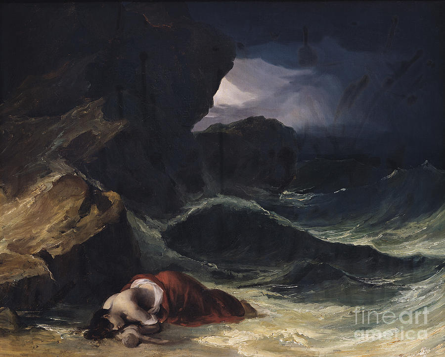 The Painting - The Storm Or The Shipwreck by Theodore Gericault