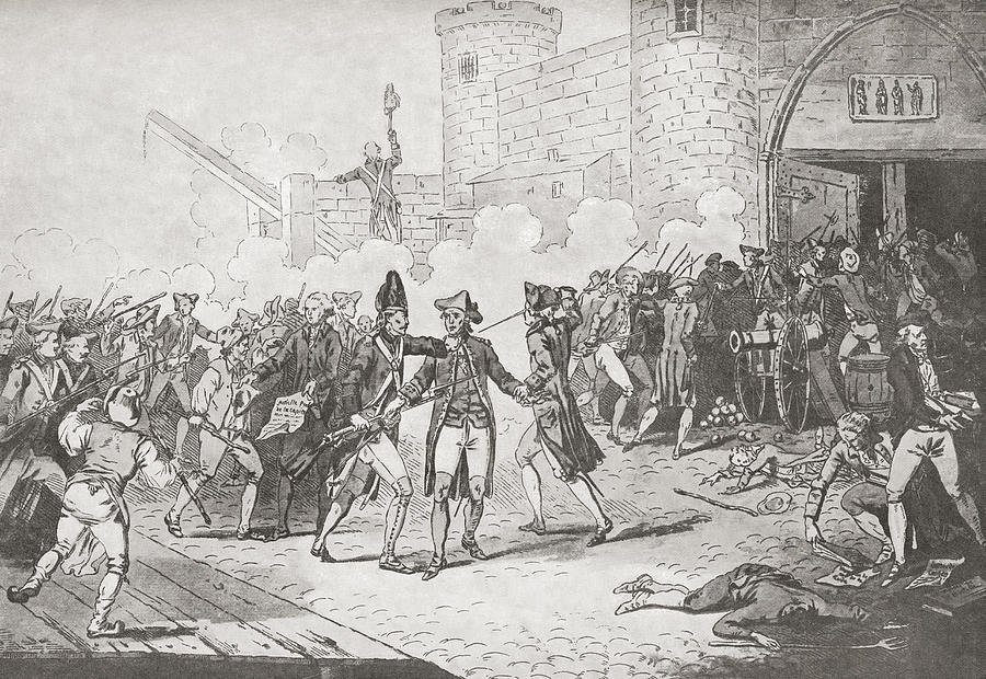 It is a photo of Bright Storming Of The Bastille Drawing