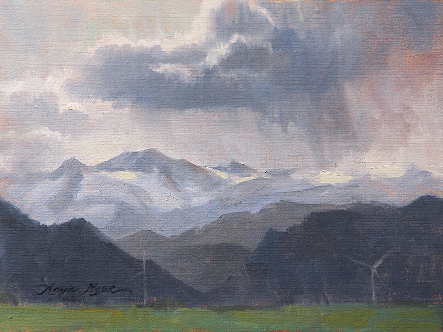 Plein Air Painting - The Storms Beyond by Anna Rose Bain