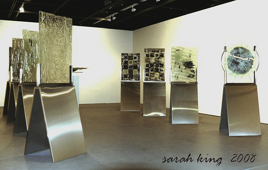Glass Rainforest Landscape Mixed Media Instillation Sculpture  Global Warming Endangered Species Painting - the Story of a River by Sarah King