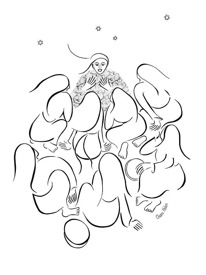 Miriam Digital Art - The Story Teller by Chana Helen Rosenberg