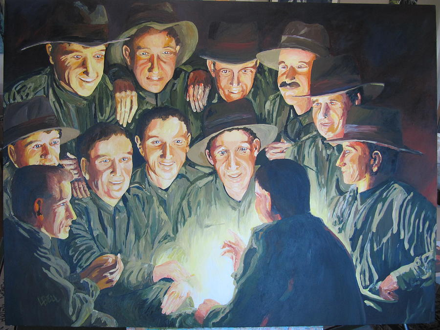 Wwi Painting - The Story Teller by Leonie Bell