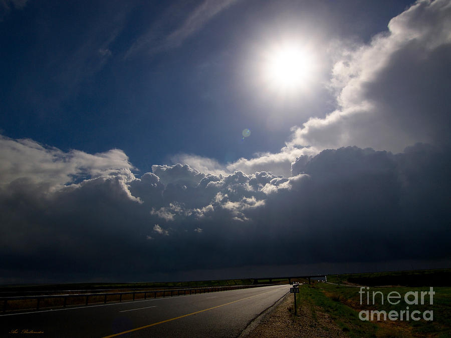 Rainbow Photograph - The Straight Way To The Storm by Arik Baltinester