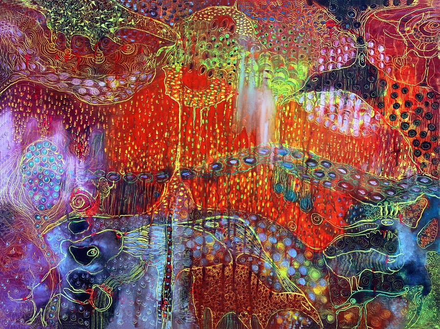 Surrealistic Painting - The Strange World by Lolita Bronzini