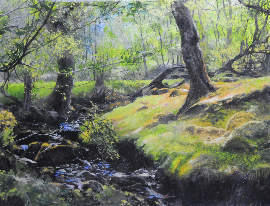 The Stream at the Farm by Harry Robertson