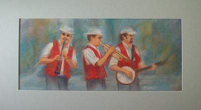 Street Musicians Painting - The Street Musicians by Diane Caudle