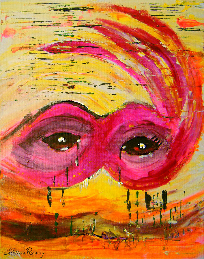 Mask Painting - The Strength of The Survivor 3 by Colleen Ranney