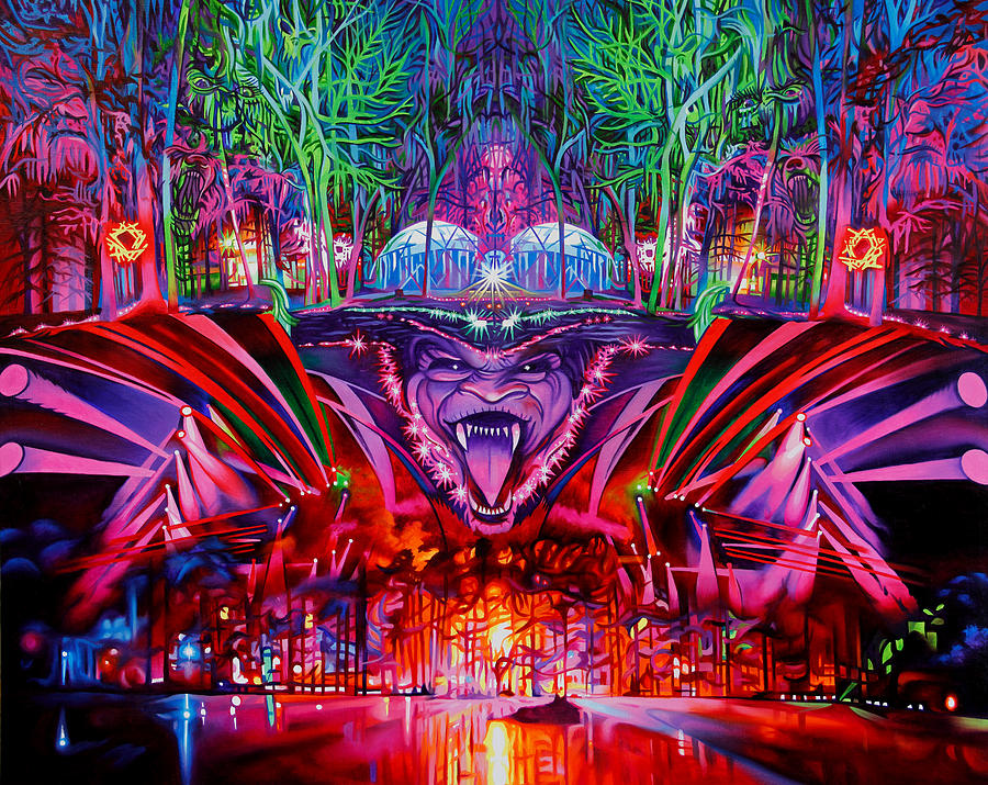The String Cheese Incident Painting - The String Cheese Incident-hulaween by Joshua Morton