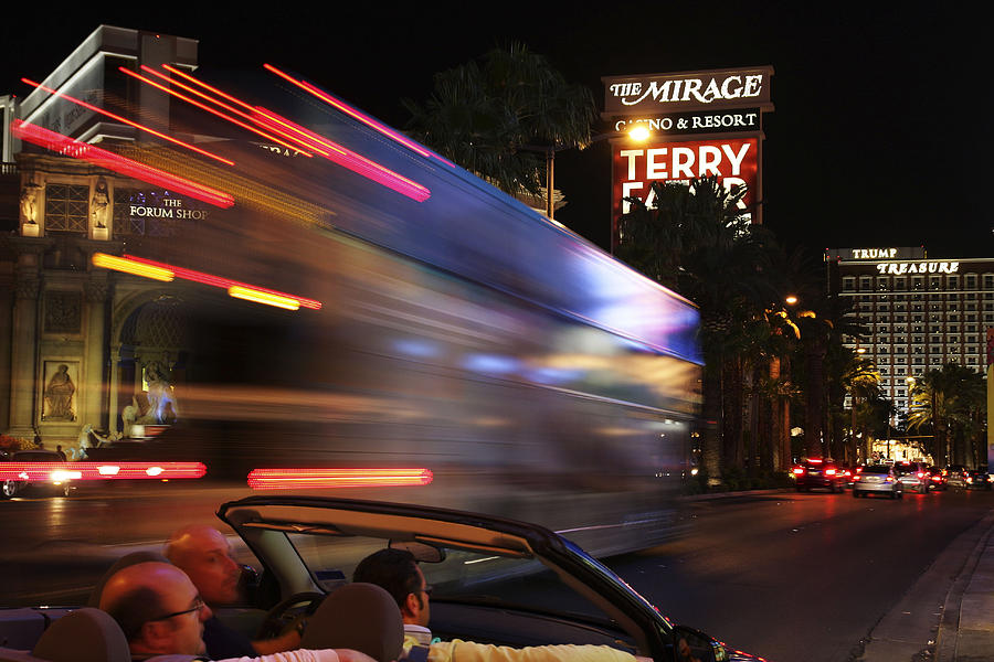Las Vegas Photograph - The Strip At Night 4 by Don MacCarthy