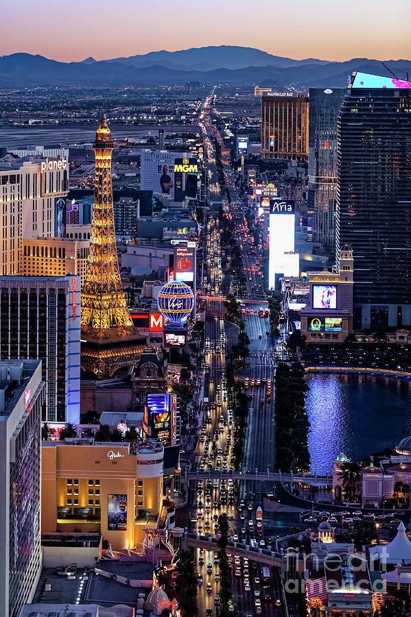 Las Vegas Photograph - the Strip at night, Las Vegas by Sv