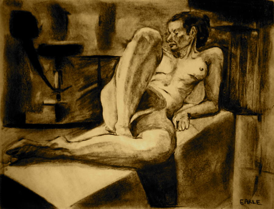 Female Nude Painting - The Studio by Dan Earle