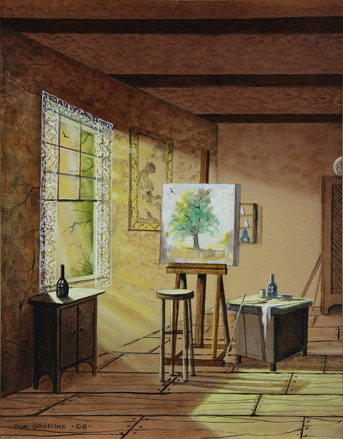 Artist Studio Painting - The Studio by Don Griffiths