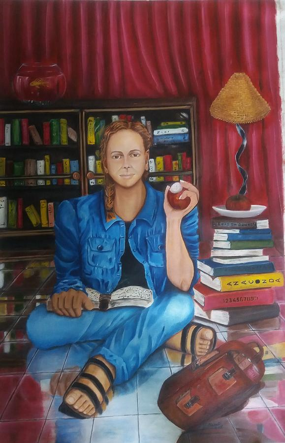 Girl Painting - The Study by Bharati BV