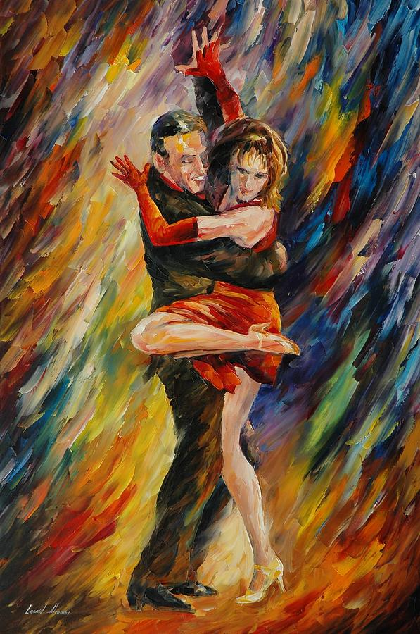 The Sublime Tango Painting By Leonid Afremov